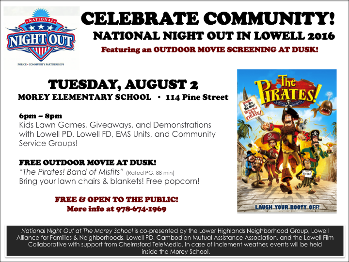 National Night Out in Lowell is Tuesday, August @!