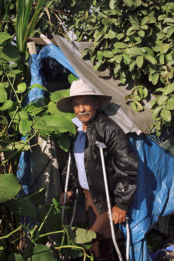 Juan Reyes Candejas in his garden
