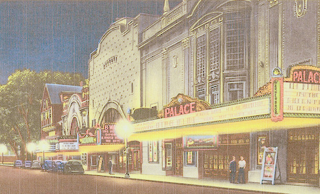 Theater Row in Lawrence, MA - ca. 1941
